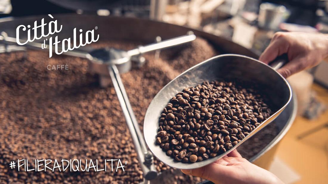 Selezione e tostatura del Caffè Città d'Italia